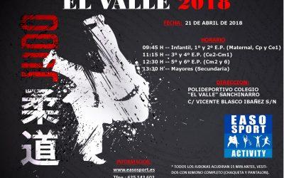 Judo – Campeonato El Valle 2018